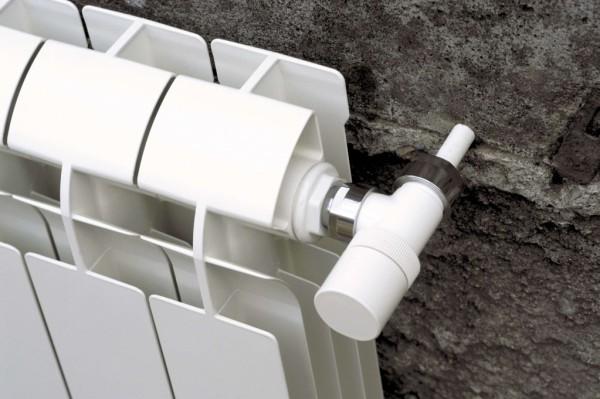 белый алюминиевый радиатор отопления