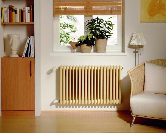 стальной радиатор в квартире