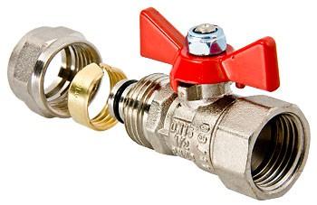 Кран шаровой VALTEC с обжимным соединением - (VT.342.N)