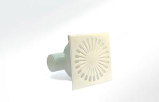 Трап горизонтальн. ф50 белый (150х150)