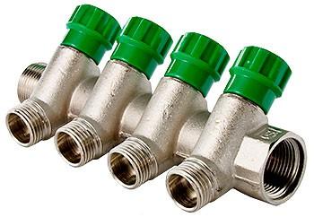 Коллектор VALTEC с регулирующими вентилями и наружной резьбой - (VTc.560.N)
