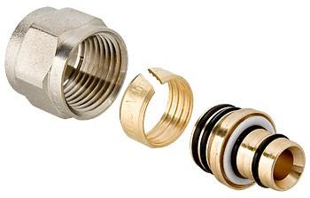 Фитинг коллекторный обжимной для металлополимерной трубы - (VTc.710.N)