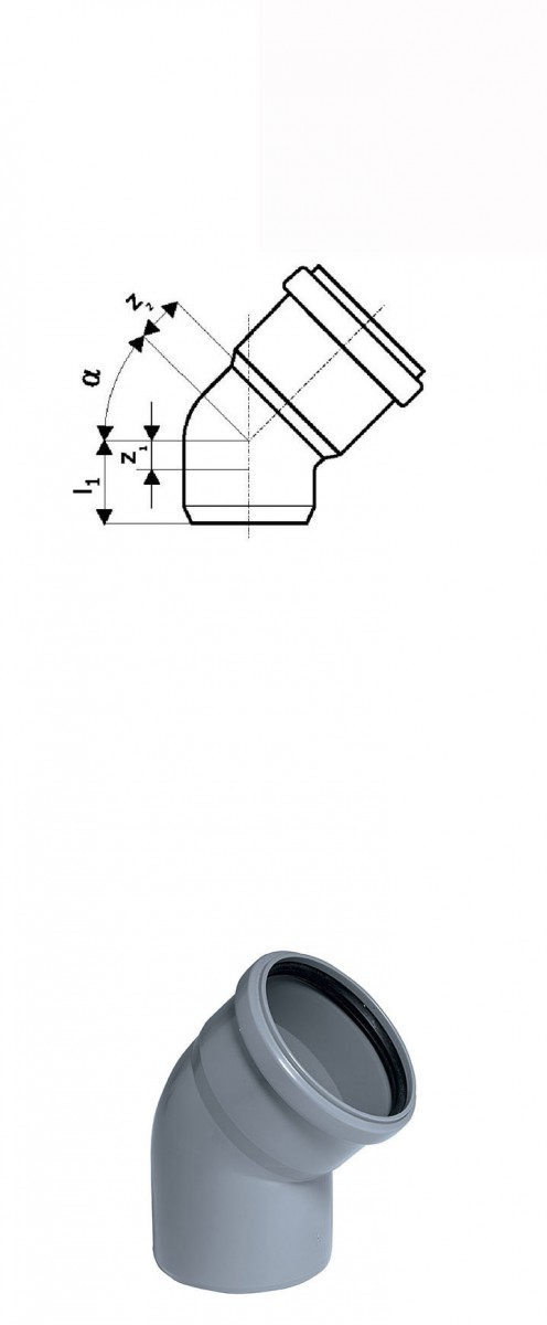 Отвод 15° DN 75