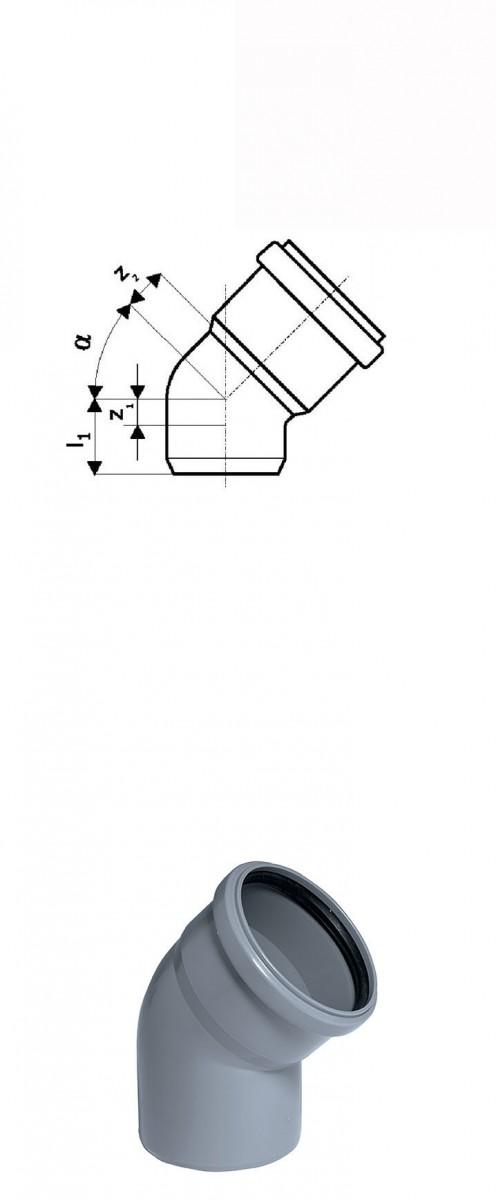 Отвод 15° DN 125