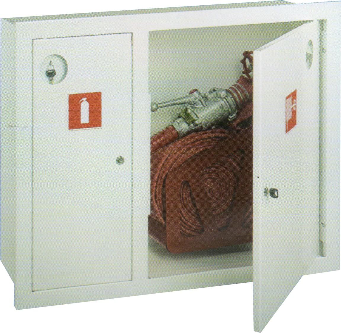 ШПК-315 встроенный  закрытый белый  для пожарного крана и одного огнетушителя (с окном)