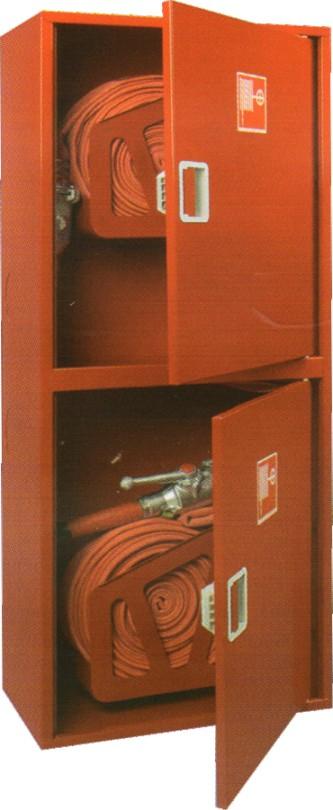 ШПК-320 навесной закрытый красный для двух пожарных кранов (без окна)