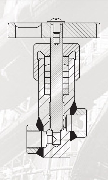 Клапан запорный сальниковый муфтовый DN 6, 15 PN 2,5 МПа