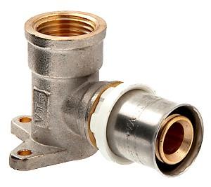Пресс-фитинг угловой с креплением (водорозетка) (VTm.254.N)